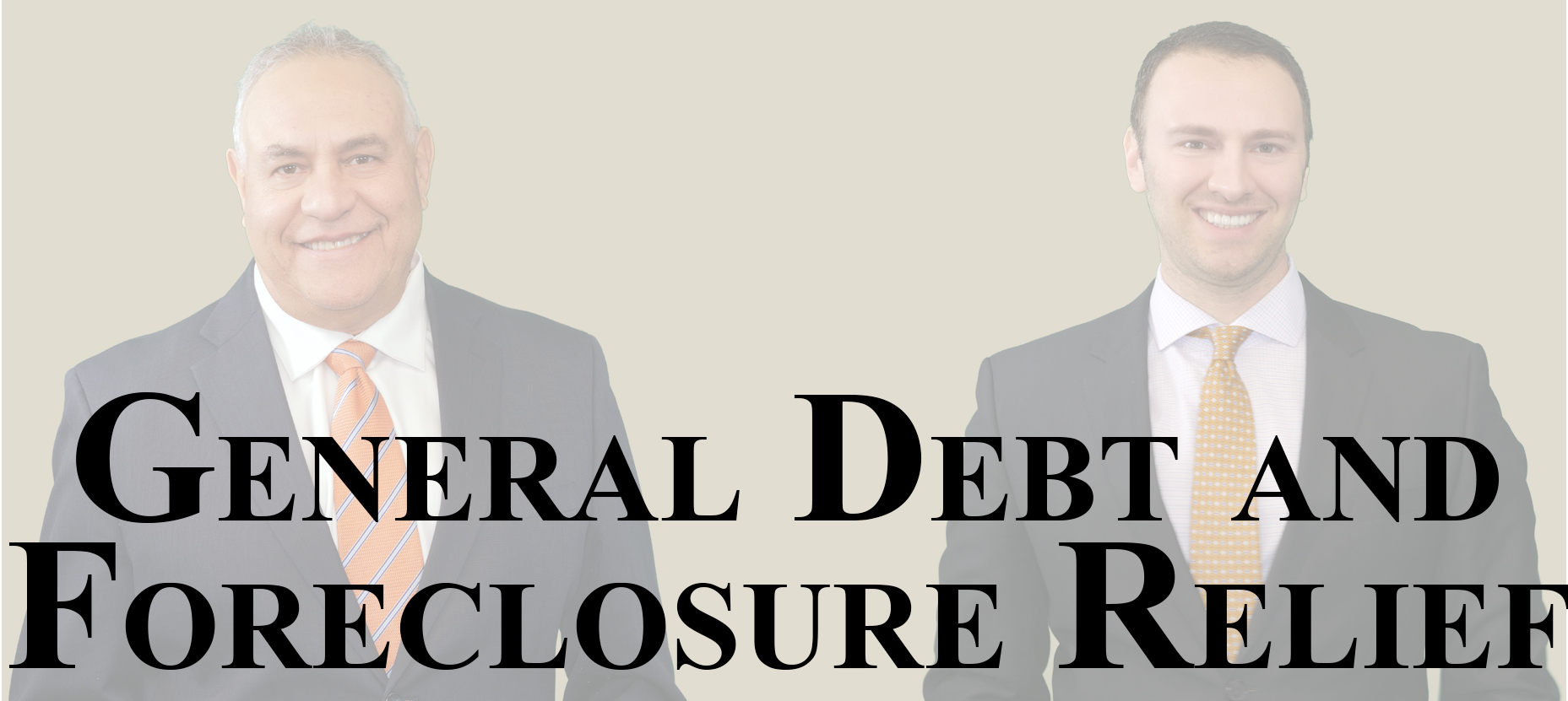 General debt and foreclosure relieff