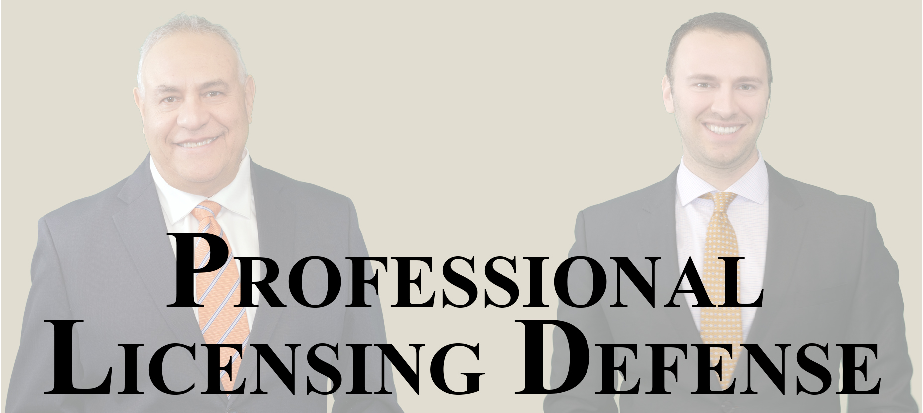 Professional Licensing Defense